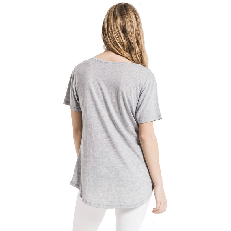 Z Supply Jersey Pocket Tee - Women's in Heather Grey Color