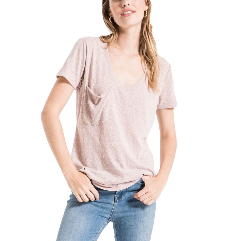The Triblend Pocket Tee in Deauville Mauve Color