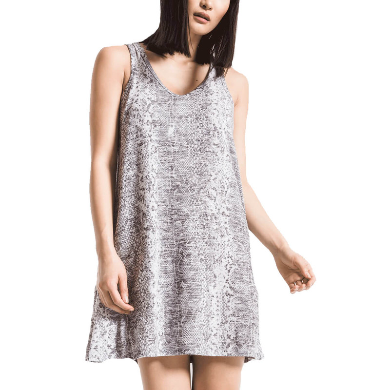 Z Supply The Snakeskin Breezy Dress in Grey Color