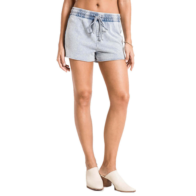 The Knit Denim Sport Short in Acid Wash