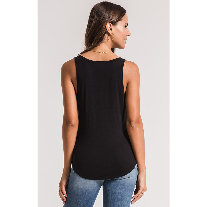 Z Supply The Perfect Tank in Black Color