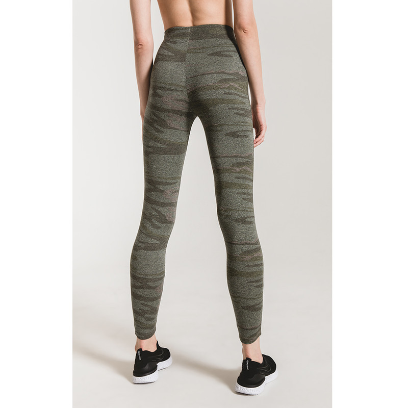 Z Supply The Camo Mod Knit Legging in Light Sage Color