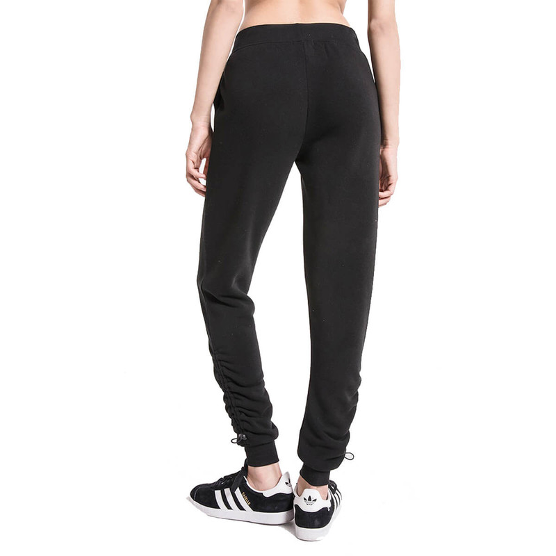 Z Supply The Loft Fleece Cinched Jogger in Black Color