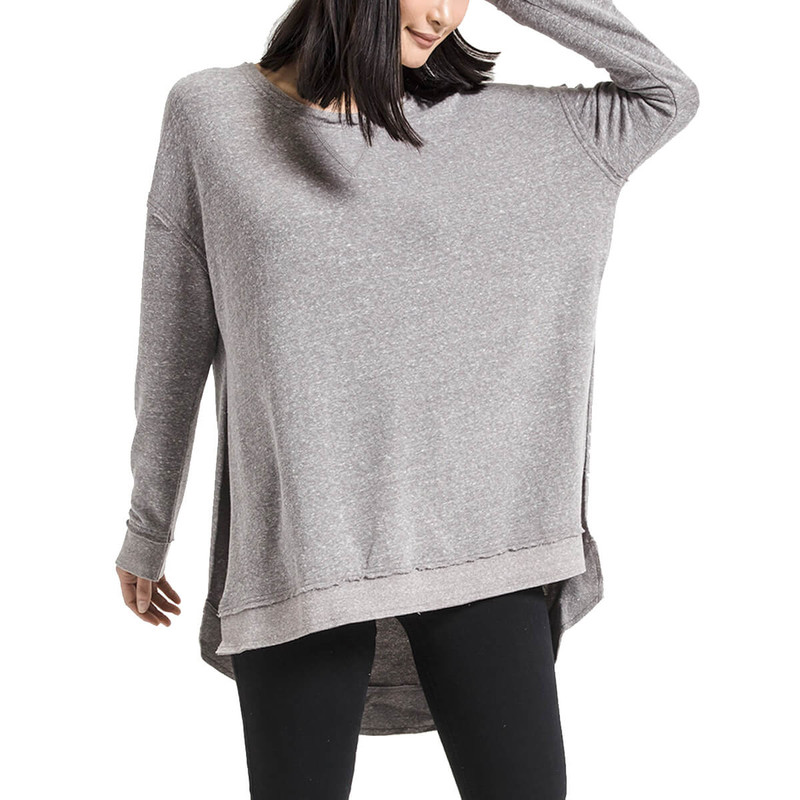 Z Supply Triblend Vacay Pullover in Heather Grey Color